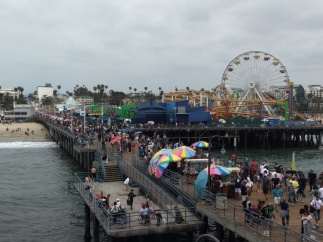 A view from the restaurant deck at the end of the pier.
